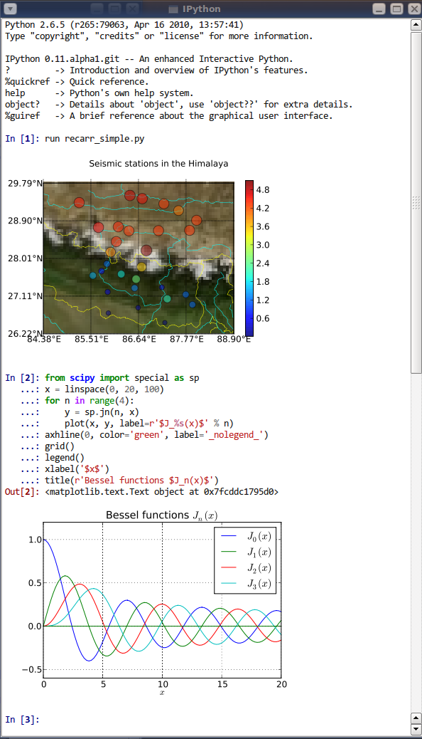IPython Qt Console With Embedded Plots